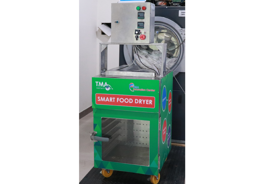 TMA Innovation Smart Food Dryer optimized with Artificial Intelligence/Machine Learning (AI/ML)